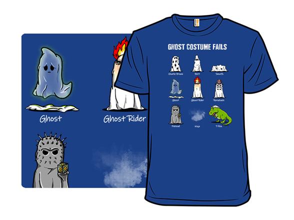 Ghost Costume Fails T Shirt