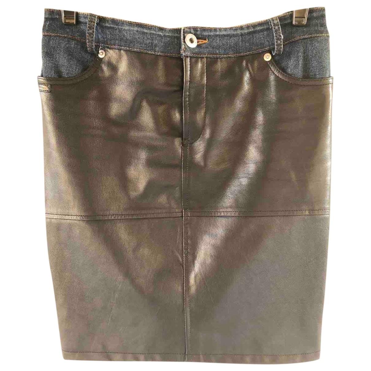 D&g \N Black Leather skirt for Women 36 FR
