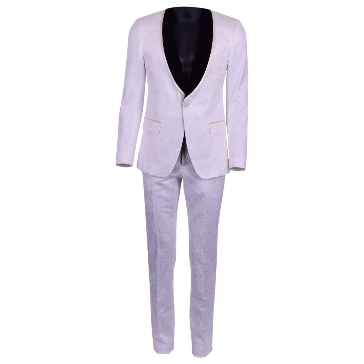 Dolce & Gabbana - Costumes   pour homme en coton - blanc