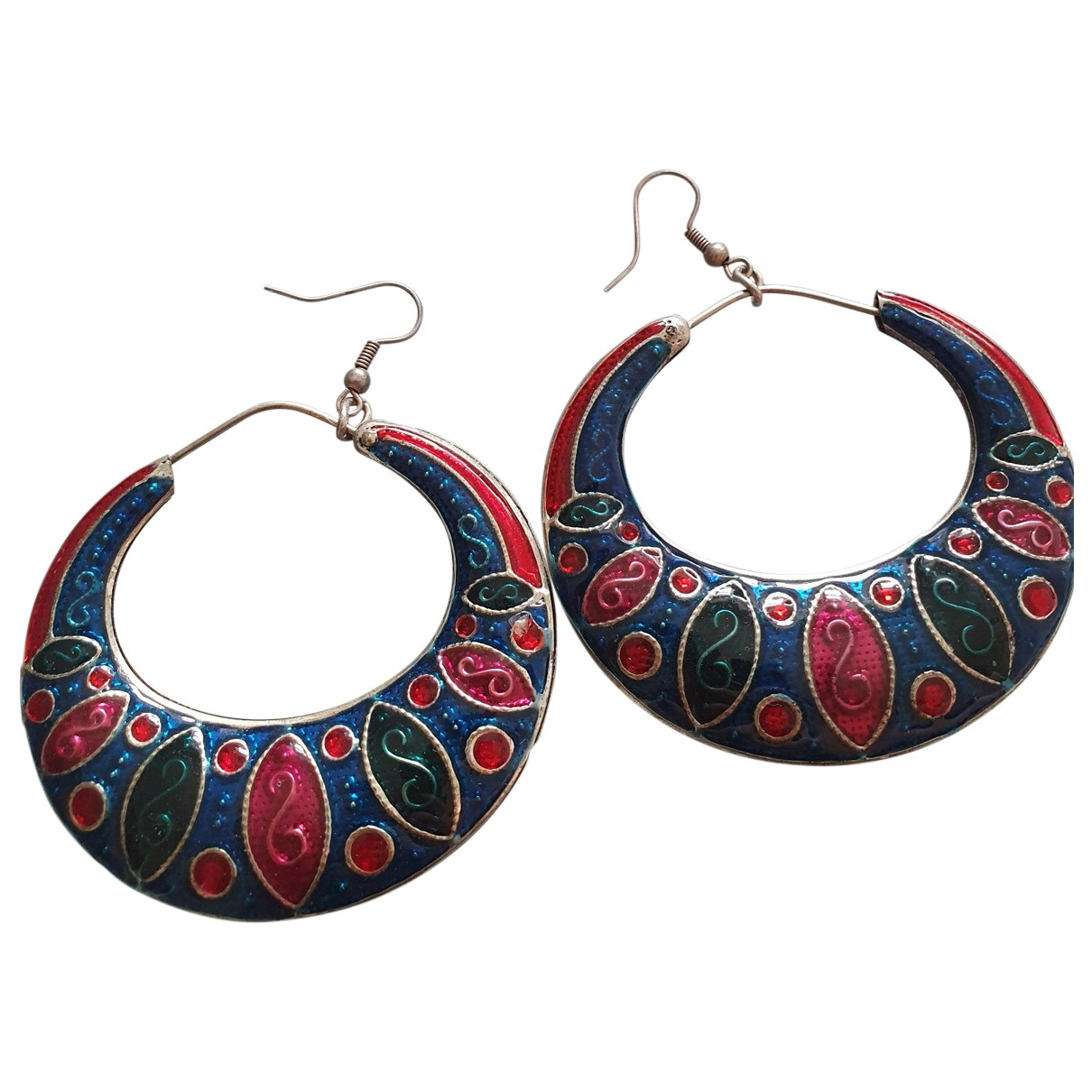 Non Signé / Unsigned \N Multicolour Silver Plated Earrings for Women \N