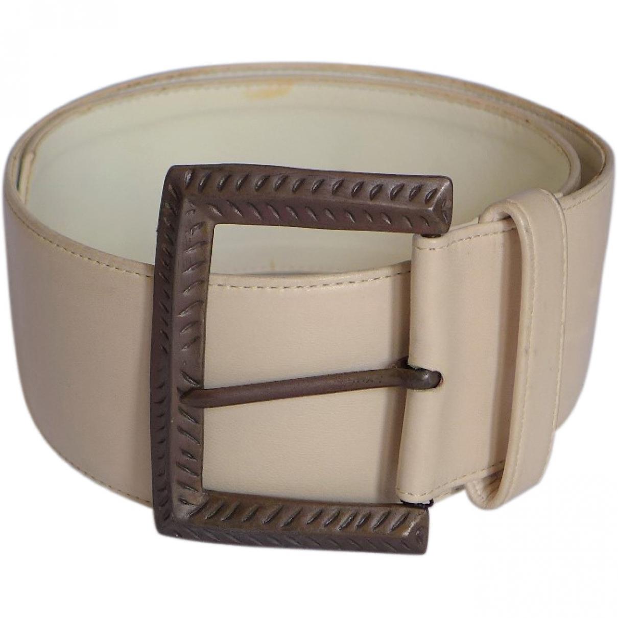 Lanvin \N Beige Leather belt for Women XS International