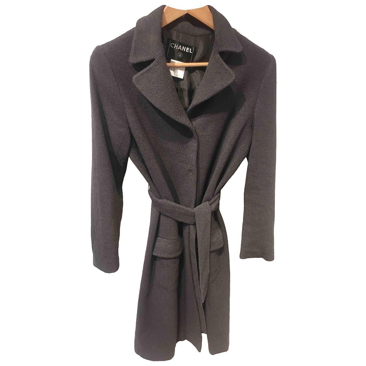 Chanel \N Grey Wool coat for Women 38 FR