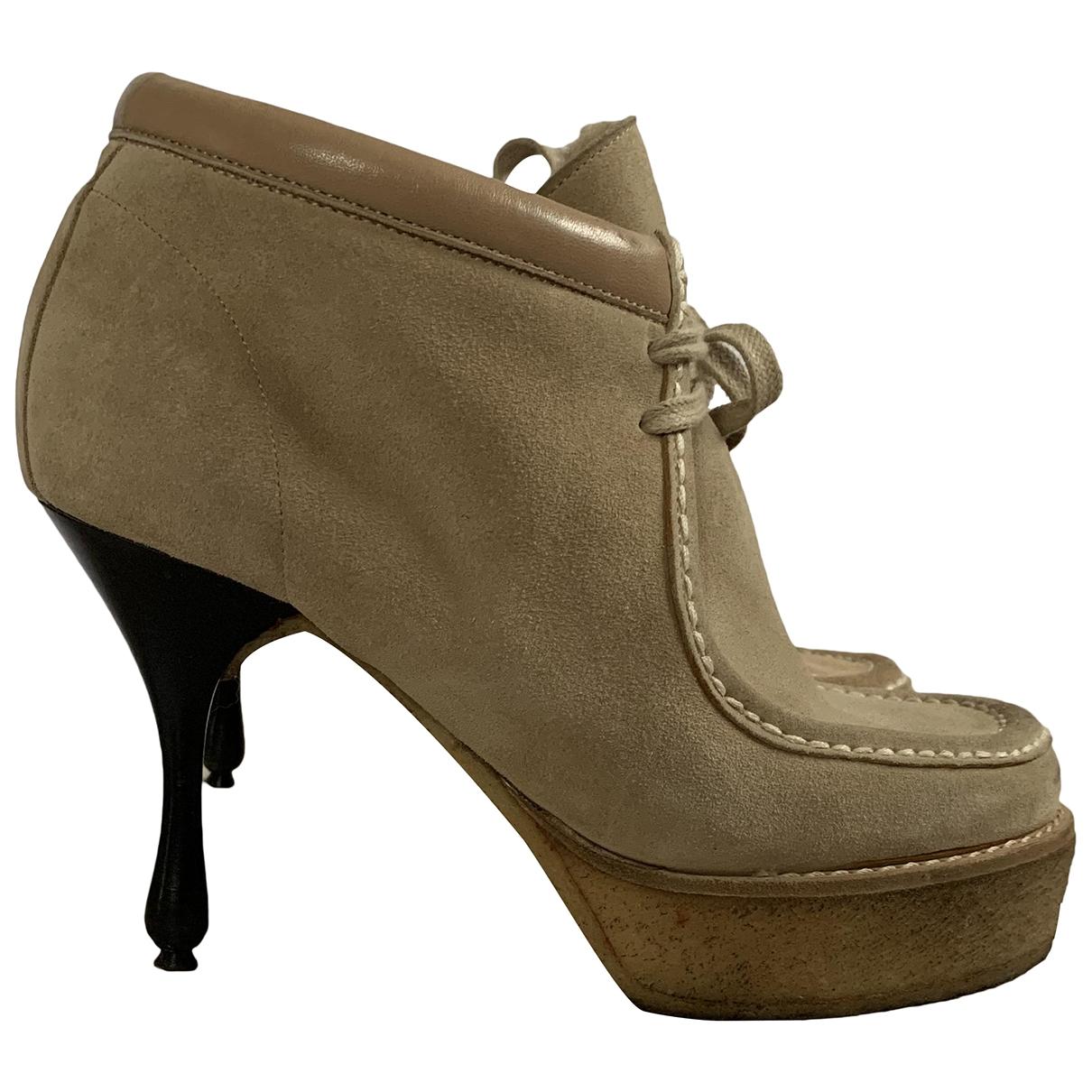 Marc Jacobs - Boots   pour femme en suede - beige
