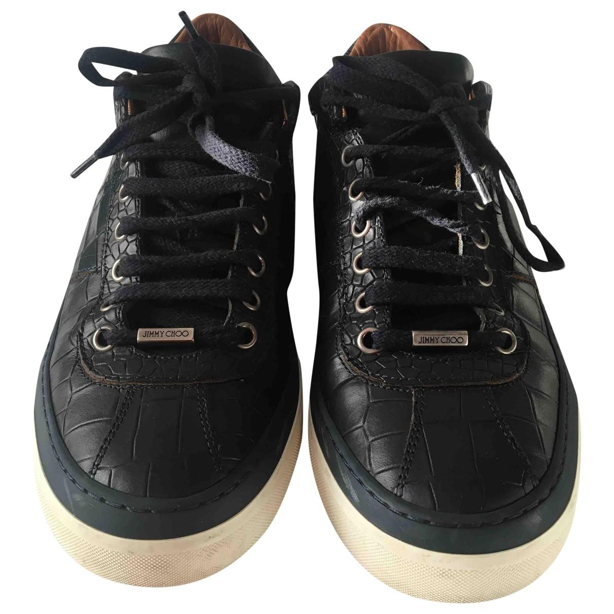 Jimmy Choo - Baskets Cash pour homme en cuir - noir