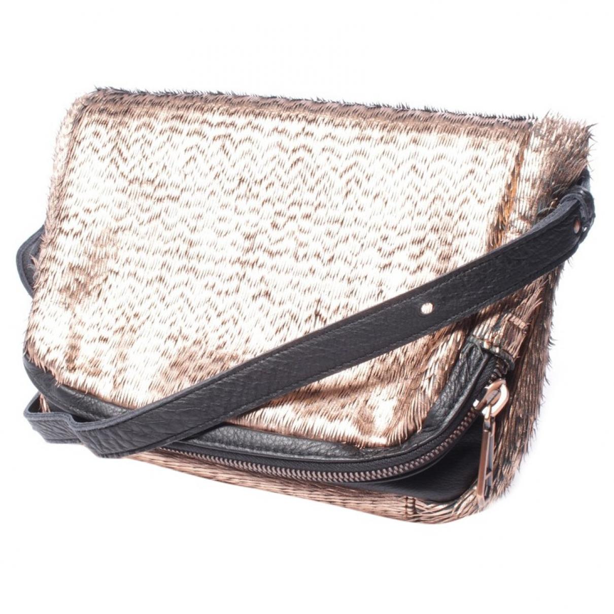 Autre Marque \N Orange Leather handbag for Women \N