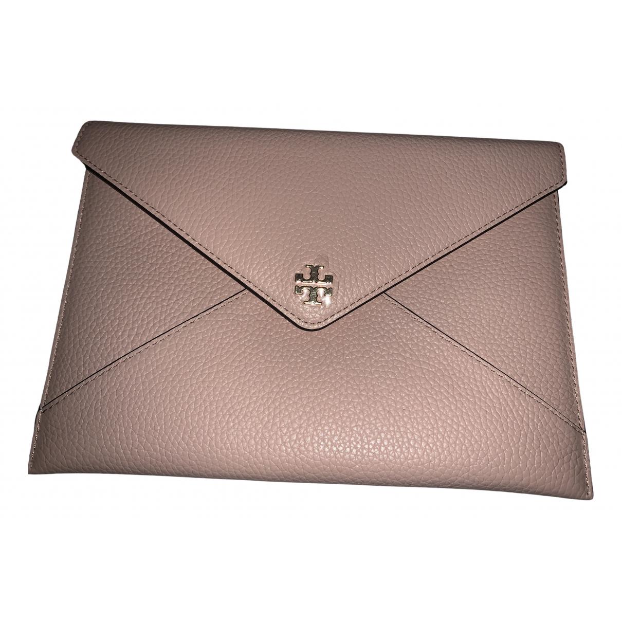 Tory Burch - Pochette   pour femme en cuir - rose
