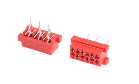 TE Connectivity , Micro-MaTch 2.54mm Pitch 6 Way 2 Row Straight PCB Socket, Through Hole, Solder Termination (5)