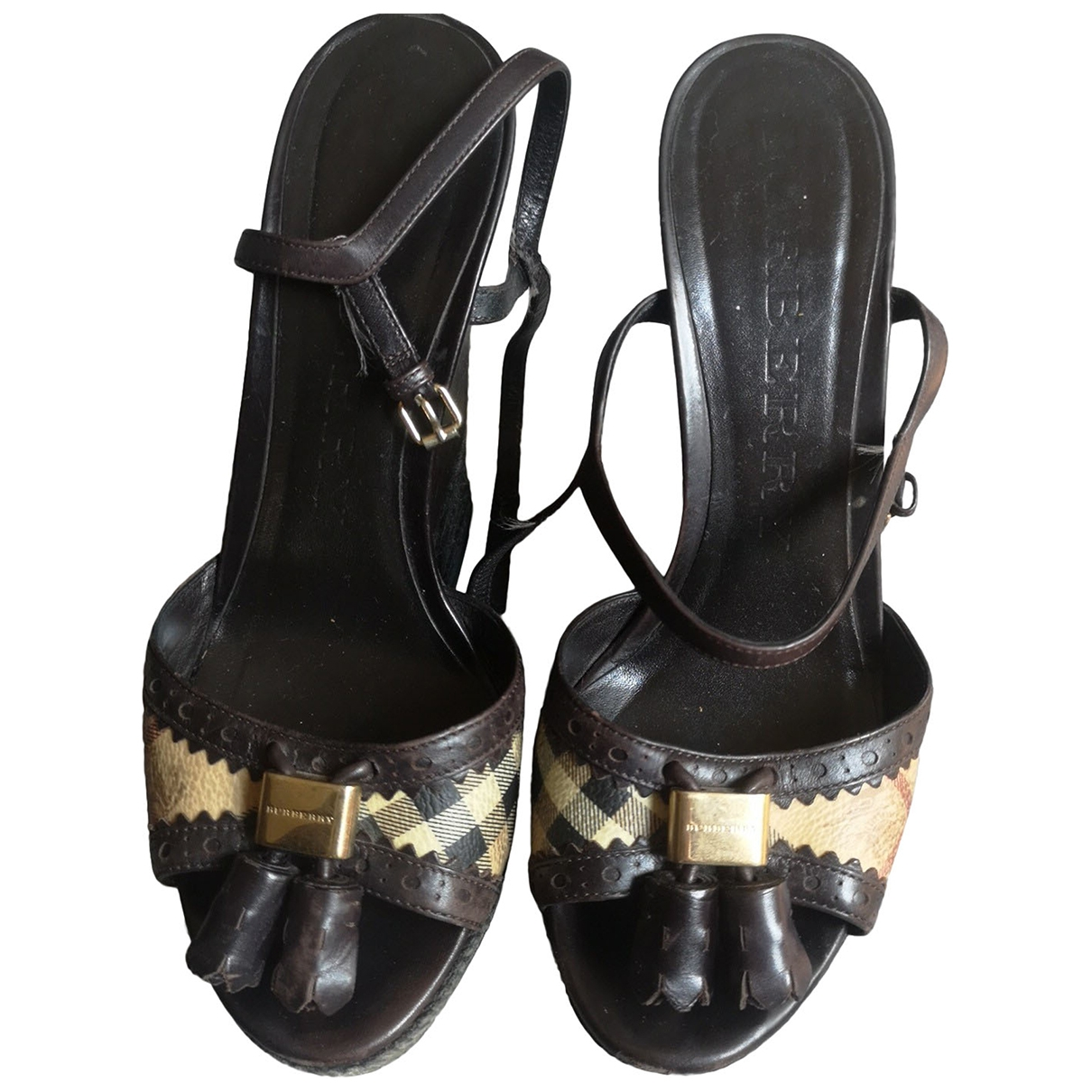 Burberry \N Brown Leather Sandals for Women 39 EU