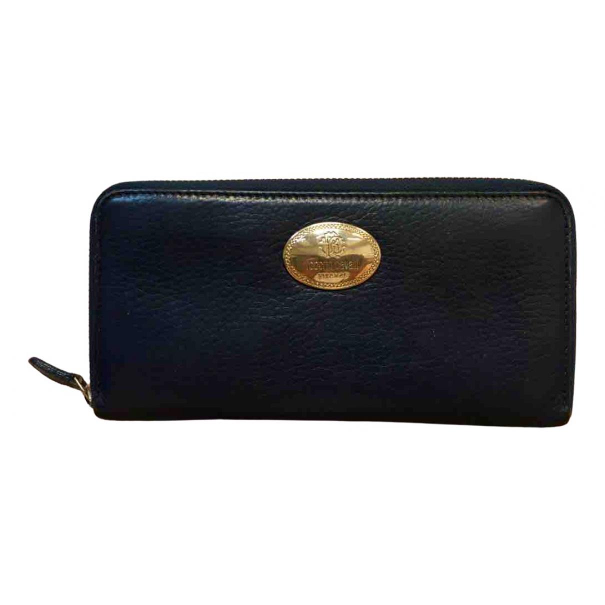 Roberto Cavalli - Portefeuille   pour femme en cuir - bleu