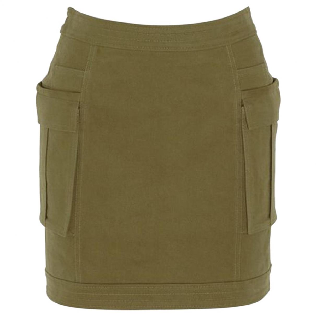 Balmain - Jupe   pour femme en coton - vert