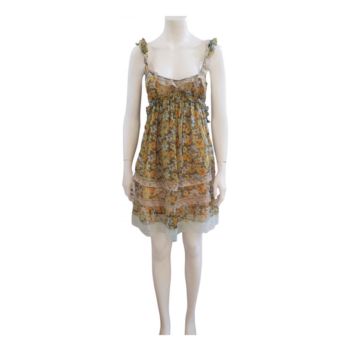 D&g \N Green Silk dress for Women 40 IT