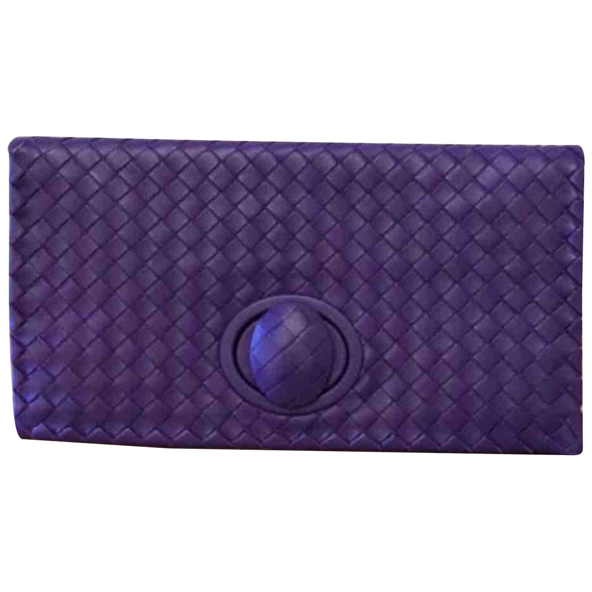 Bottega Veneta \N Purple Leather Clutch bag for Women \N