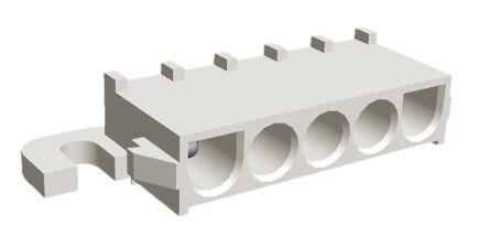 TE Connectivity , Universal MATE-N-LOK, 5 Way, 1 Row, Right Angle PCB Header