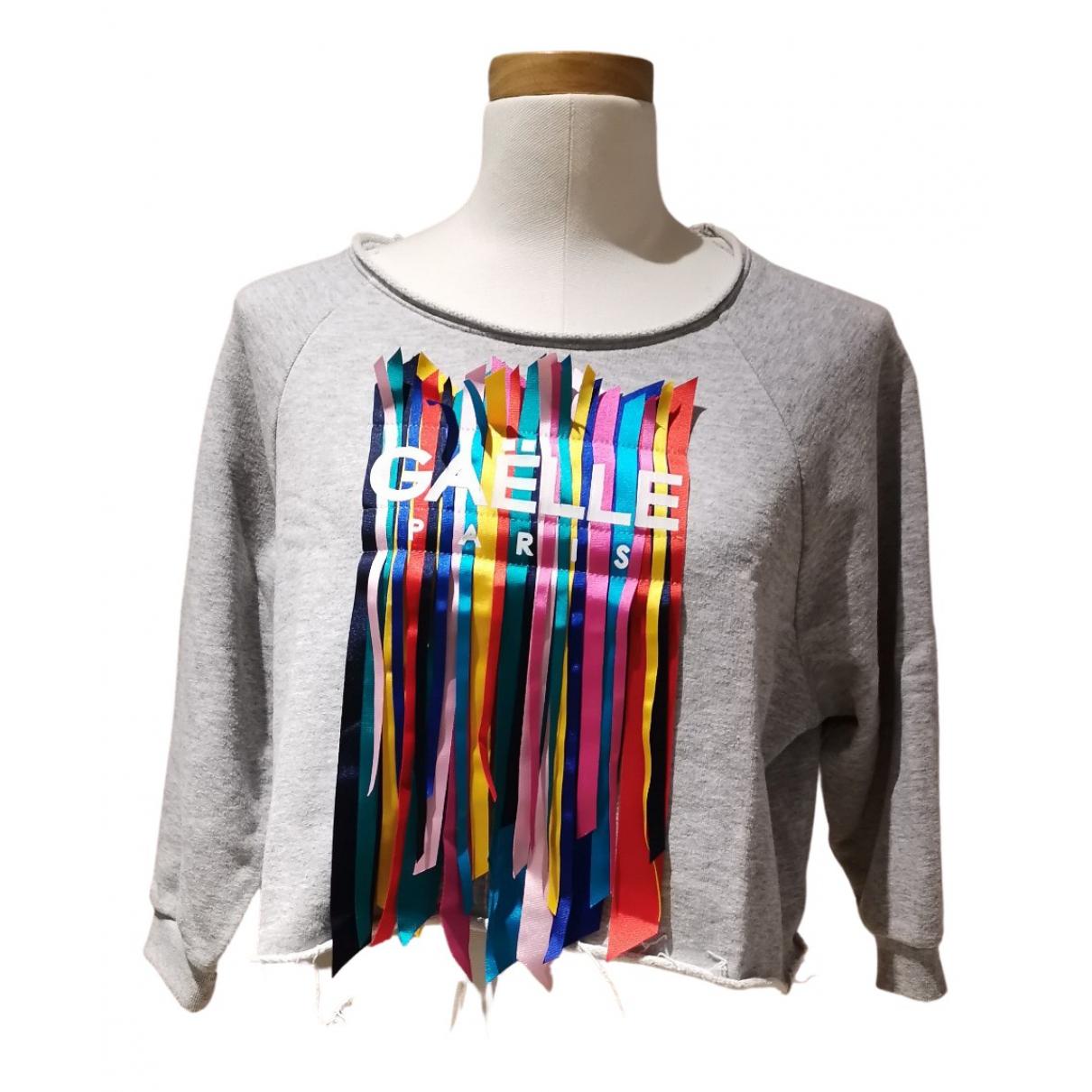 Gaelle Bonheur \N Pullover in  Grau Baumwolle