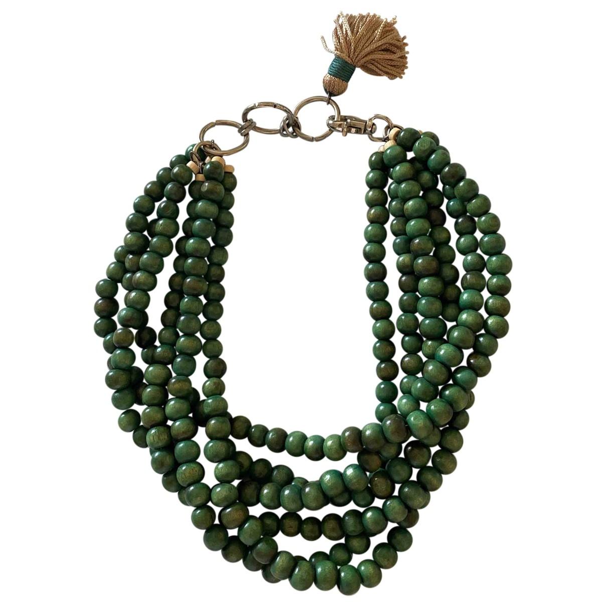 - Collier Motifs Ethniques pour femme en bois - vert