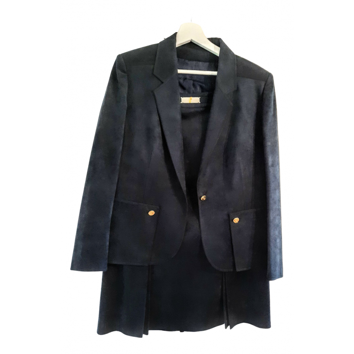 Non Signé / Unsigned \N Navy Suede jacket for Women 44 FR