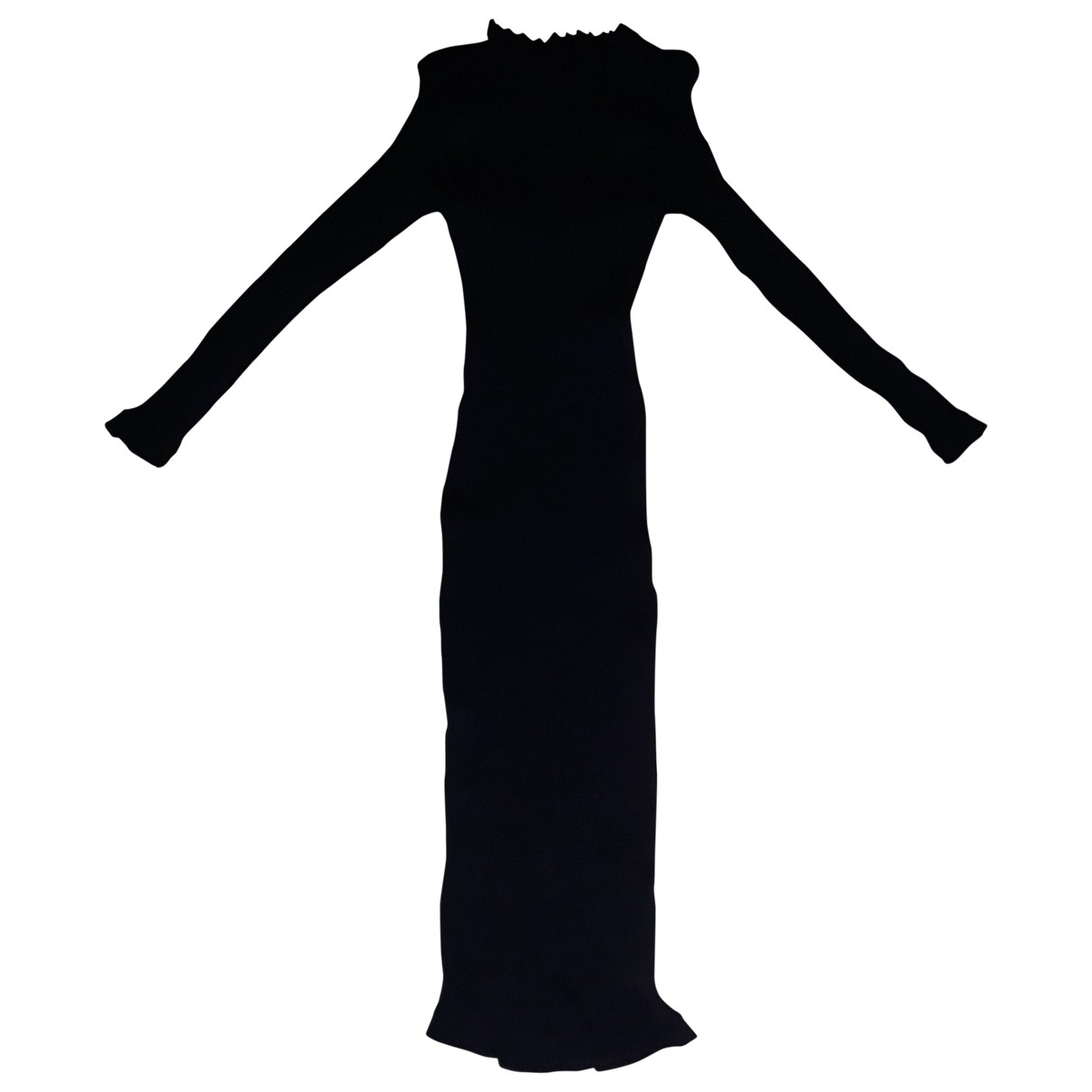 Non Signé / Unsigned \N Black Cotton - elasthane dress for Women One Size FR