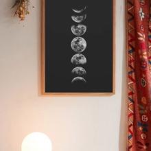 Wandmalerei mit Mond Muster ohne Rahmen