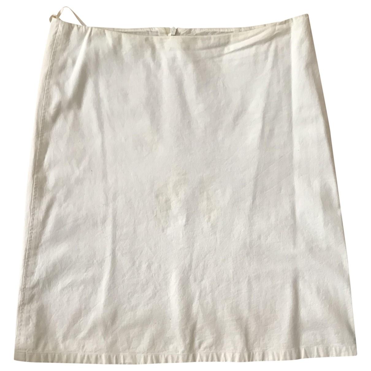 Jil Sander \N Ecru Cotton - elasthane skirt for Women 40 FR