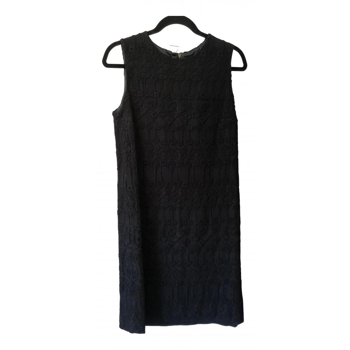 Dolce & Gabbana \N Kleid in  Schwarz Baumwolle