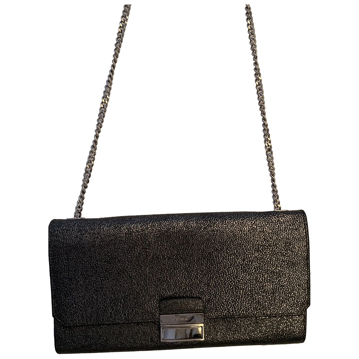 Furla \N Clutch in  Metallic Leder