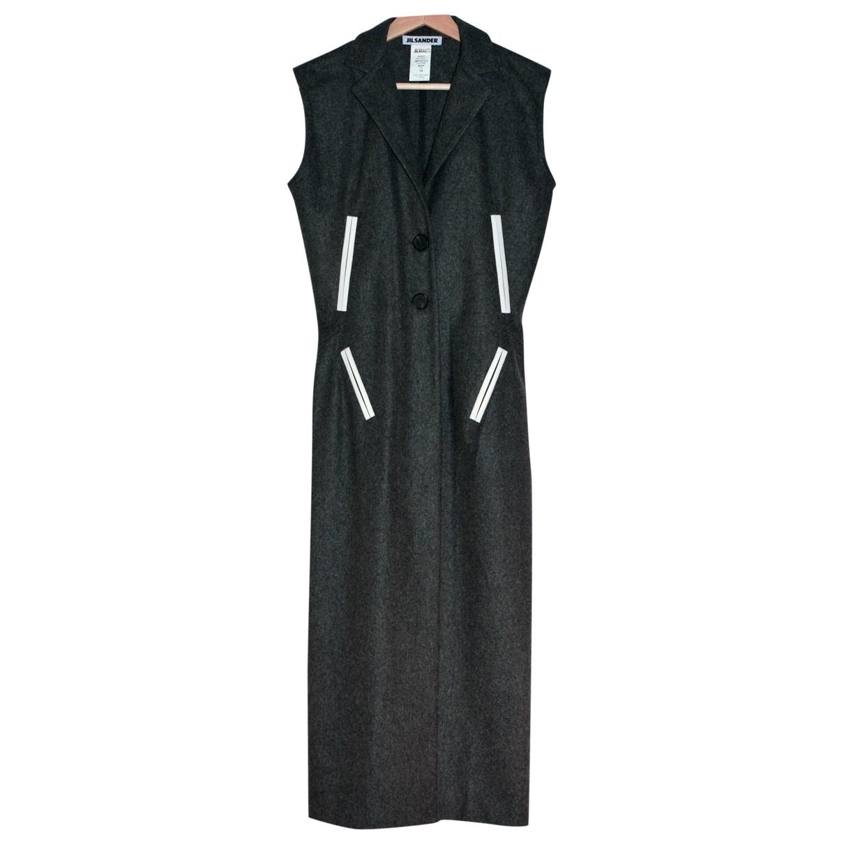 Jil Sander \N Kleid in  Grau Wolle