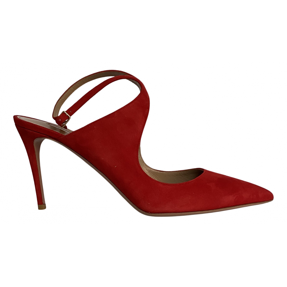 Aquazzura N Red Suede Heels for Women 42 EU