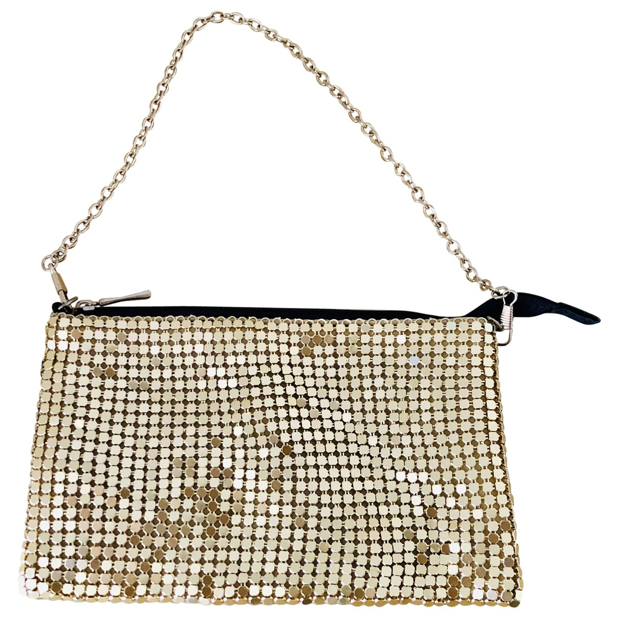 Non Signé / Unsigned N Gold Glitter Clutch bag for Women N