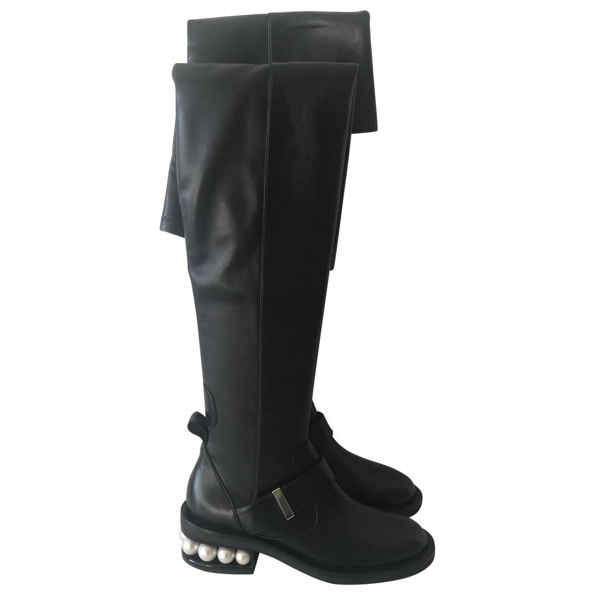 Nicholas Kirkwood \N Black Leather Boots for Women 37 EU