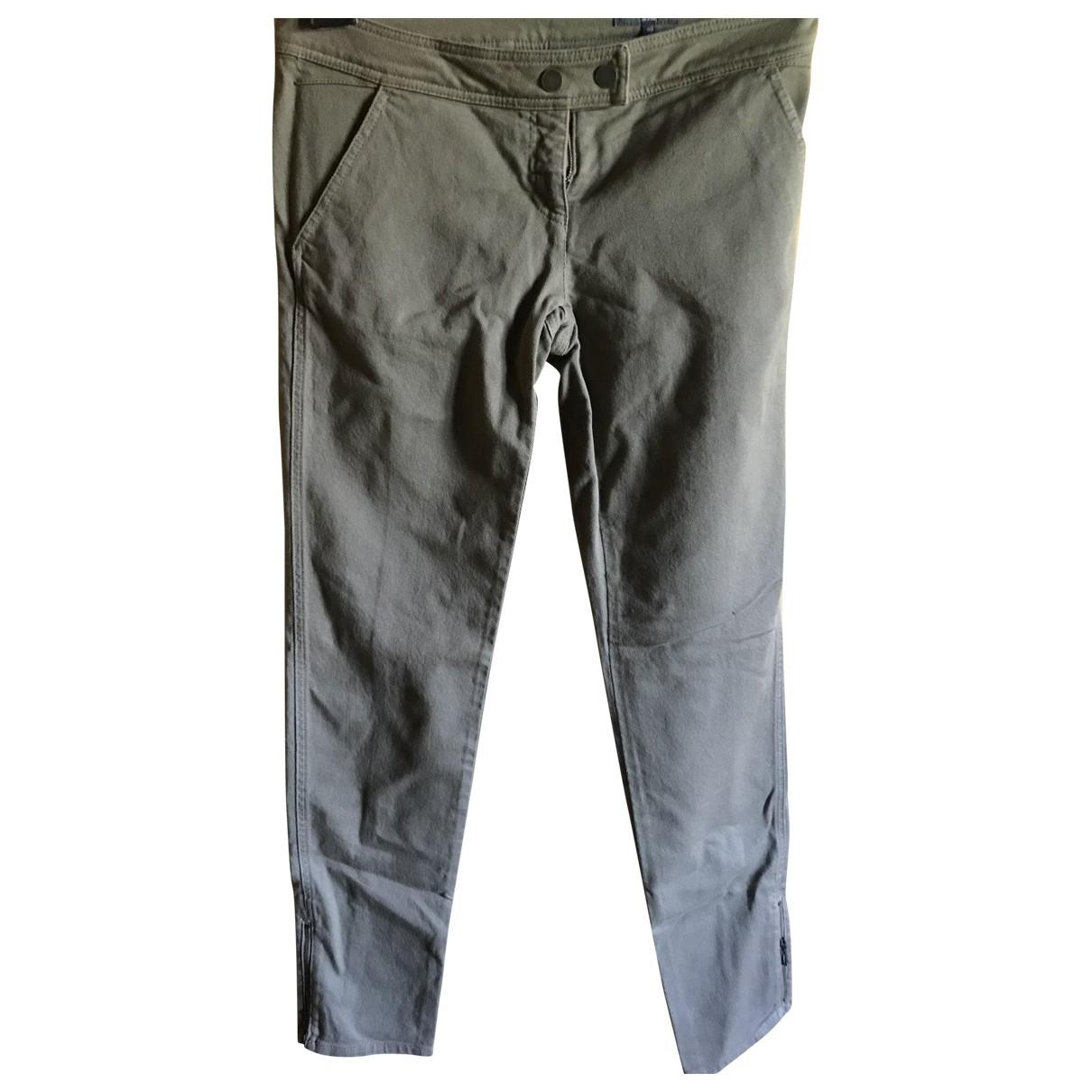 Alexander Mcqueen \N Khaki Denim - Jeans Trousers for Women 46 IT