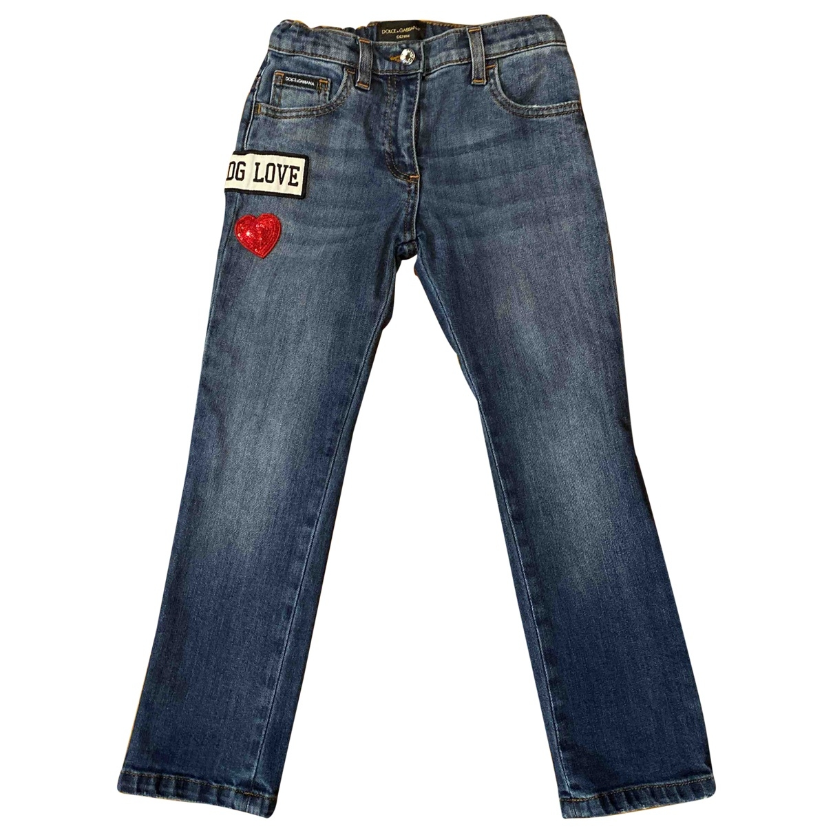 Dolce & Gabbana \N Blue Cotton Trousers for Kids 5 years - up to 108cm FR