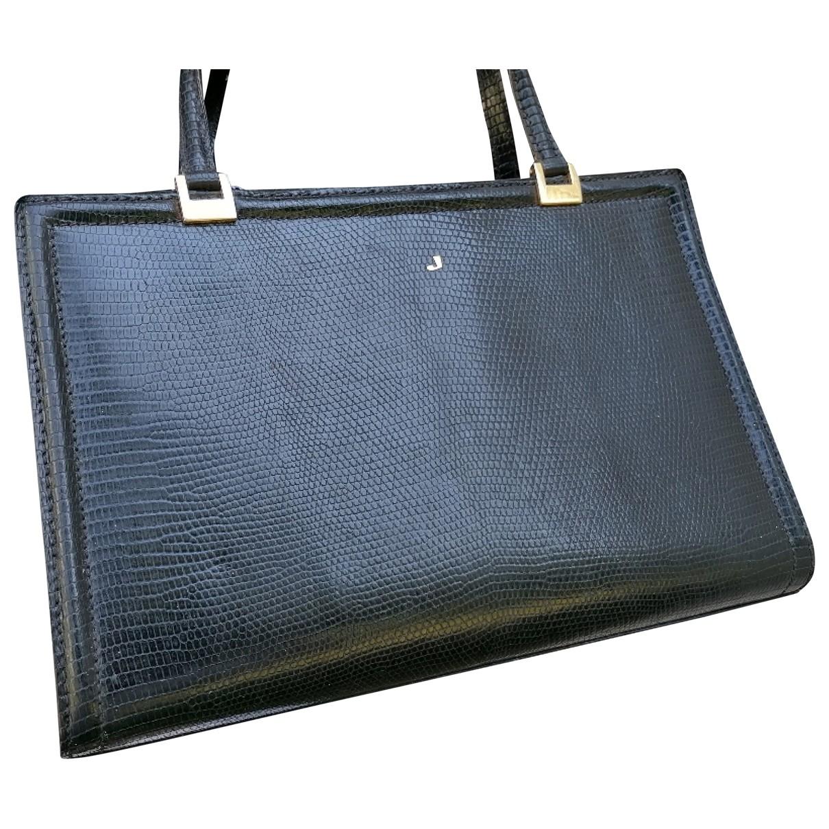 Charles Jourdan \N Handtasche in  Schwarz Leder