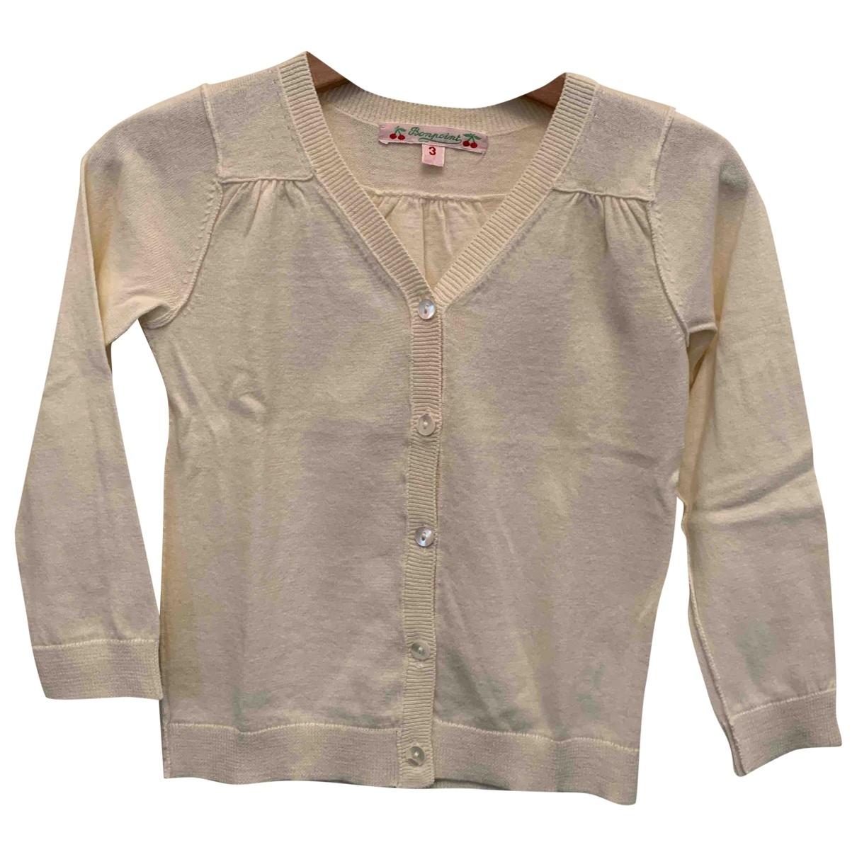 Bonpoint - Pull   pour enfant en coton - blanc