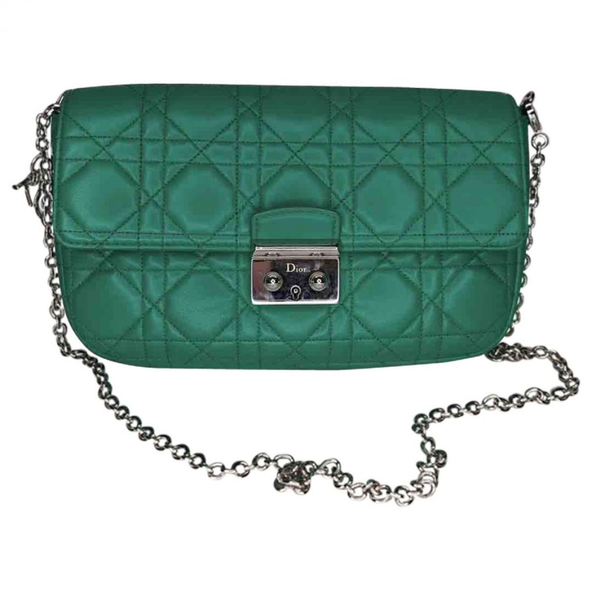 Dior Miss Dior Green Leather handbag for Women \N