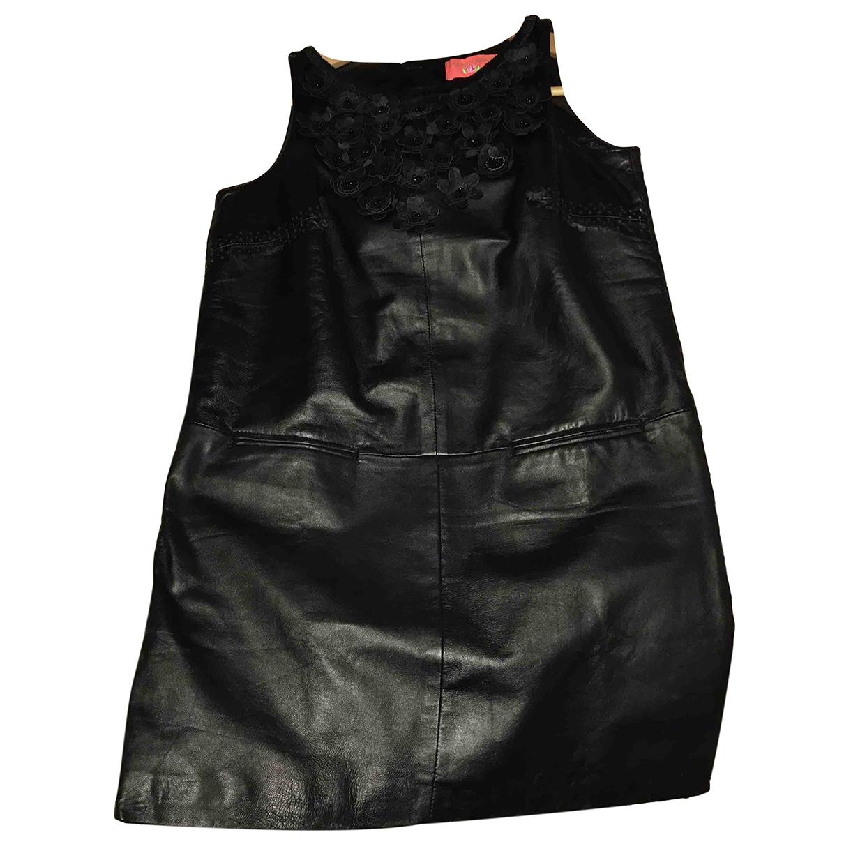 Manoush \N Kleid in  Schwarz Leder