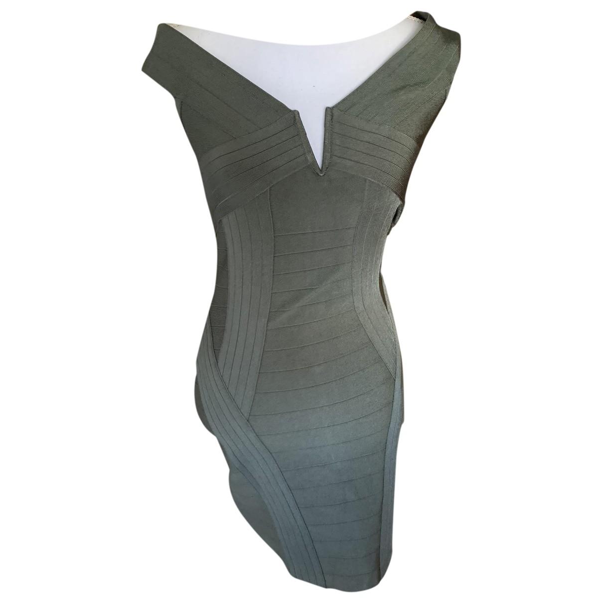 Guess \N Kleid in  Khaki Baumwolle - Elasthan