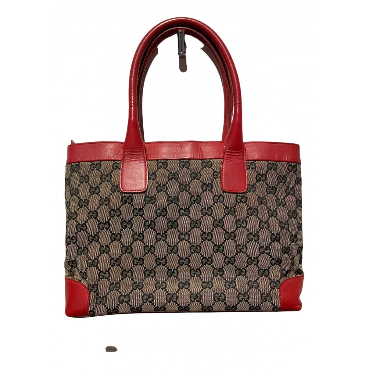 Gucci - Sac a main   pour femme en toile - rouge