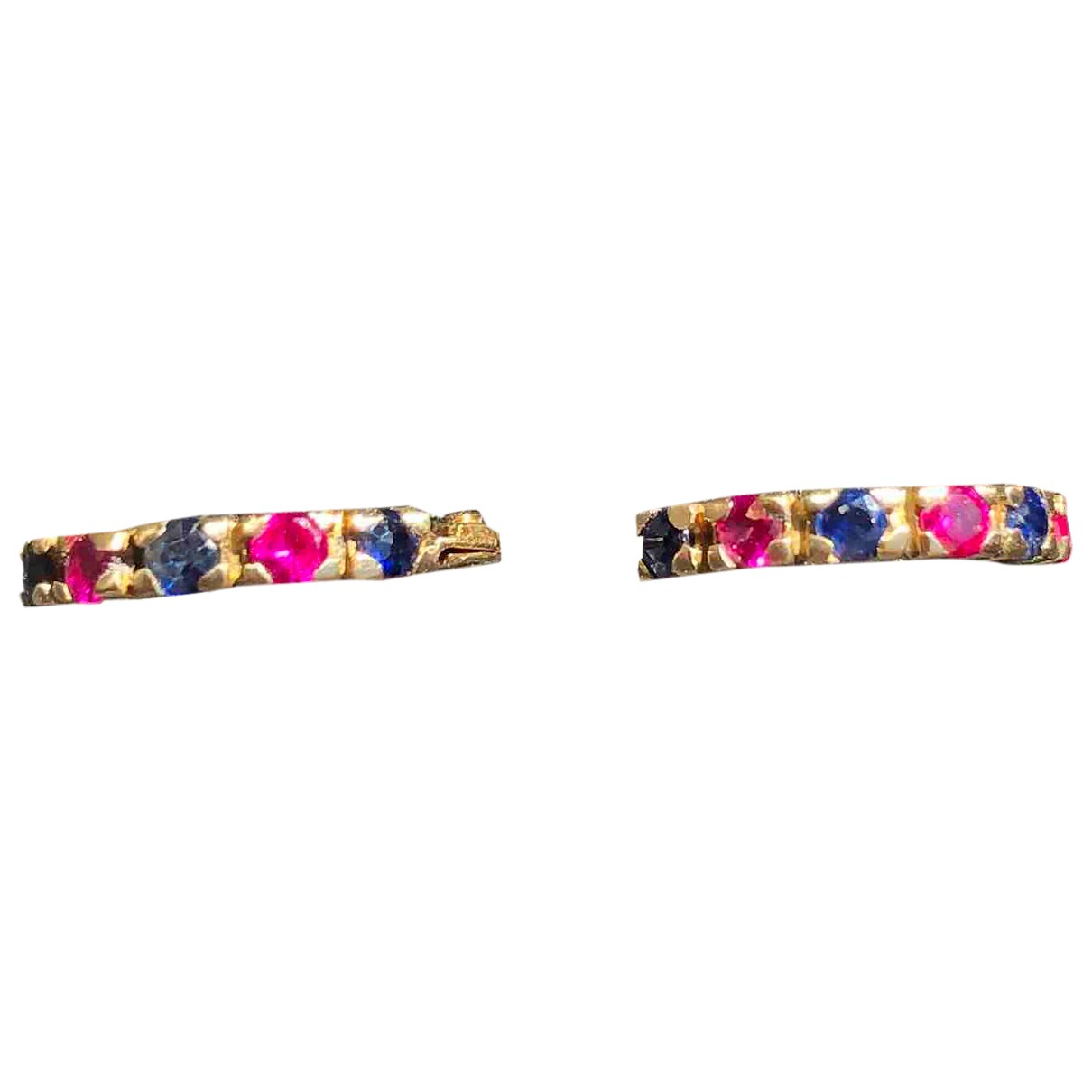Non Signé / Unsigned Rubis Multicolour Yellow gold Earrings for Women \N