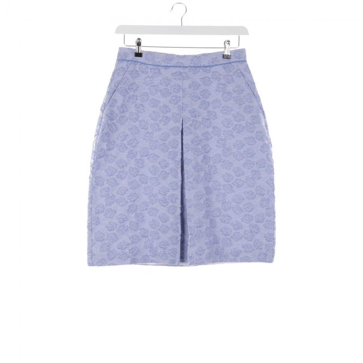 Odeeh - Jupe   pour femme en coton - bleu