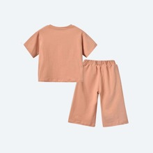 Toddler Girls Double Pocket Tee & Pants
