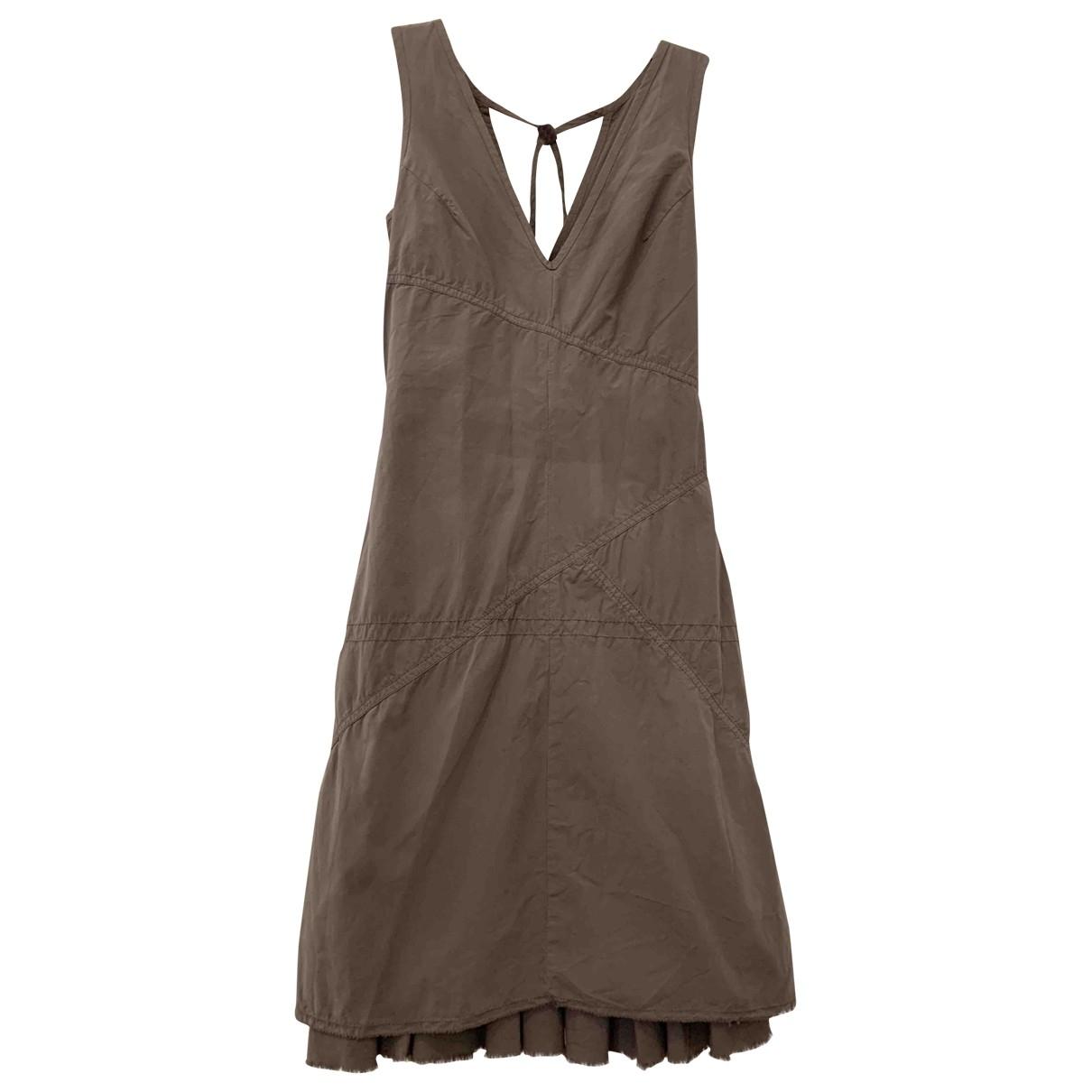 Boss Orange \N Brown Cotton dress for Women 34 FR