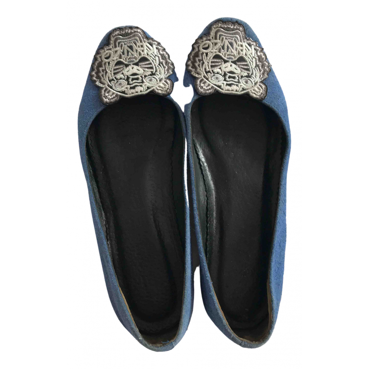 Kenzo N Blue Suede Ballet flats for Women 37.5 EU
