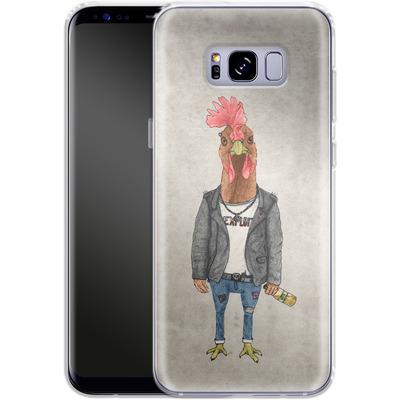 Samsung Galaxy S8 Plus Silikon Handyhuelle - Punk Rooster von Barruf