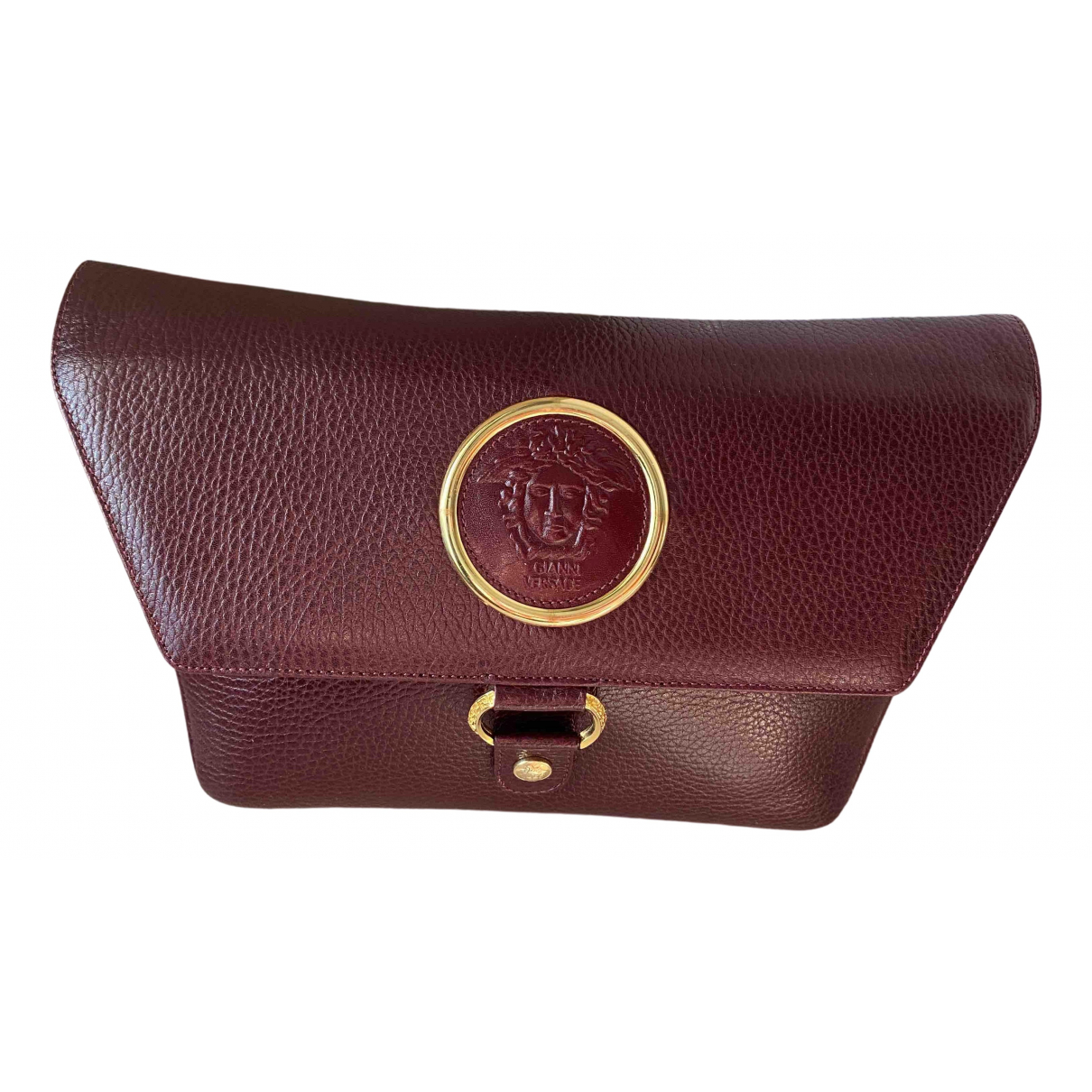 Gianni Versace \N Burgundy Leather handbag for Women \N