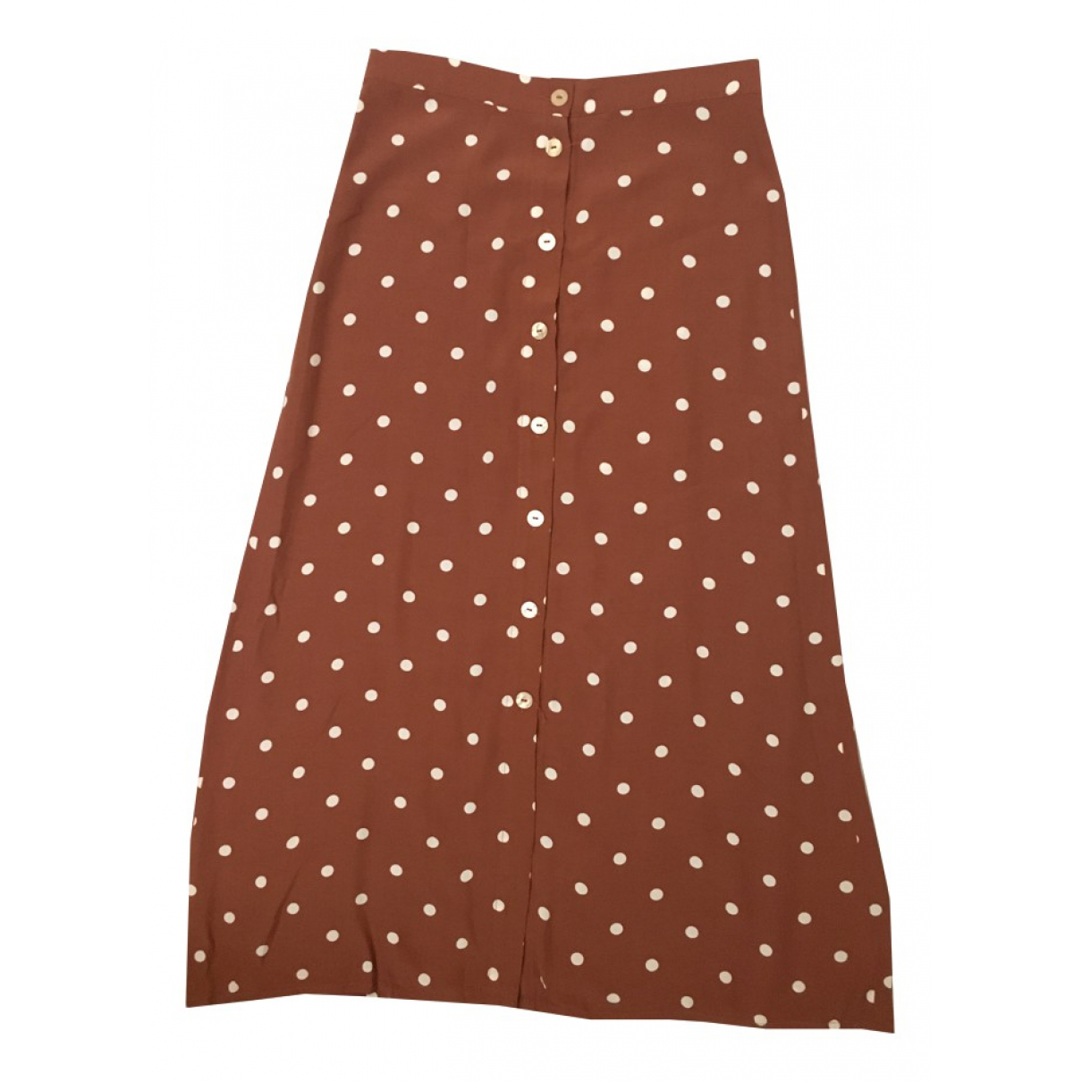Non Signé / Unsigned N Brown skirt for Women S International