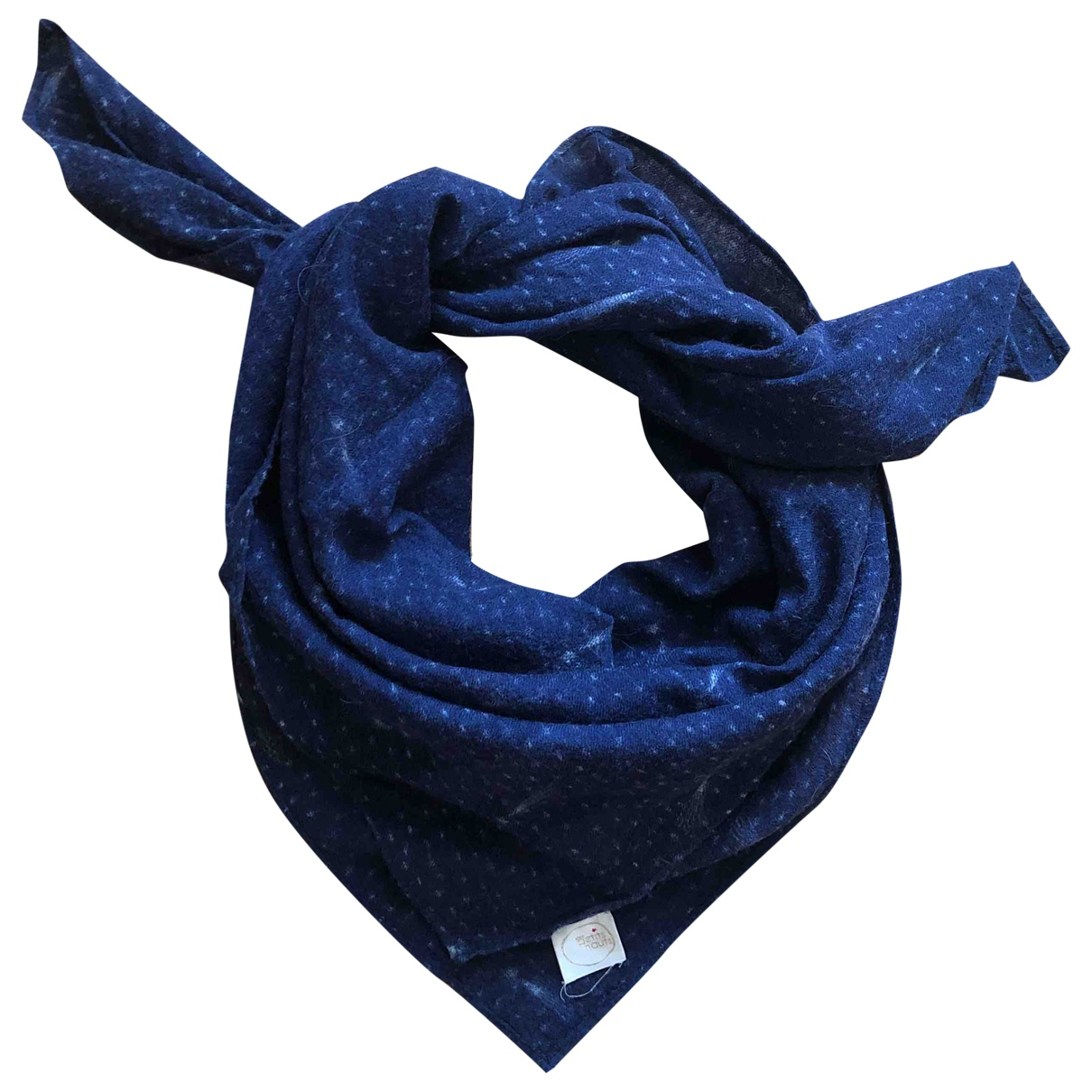 Des Petits Hauts \N Schal in  Blau Wolle