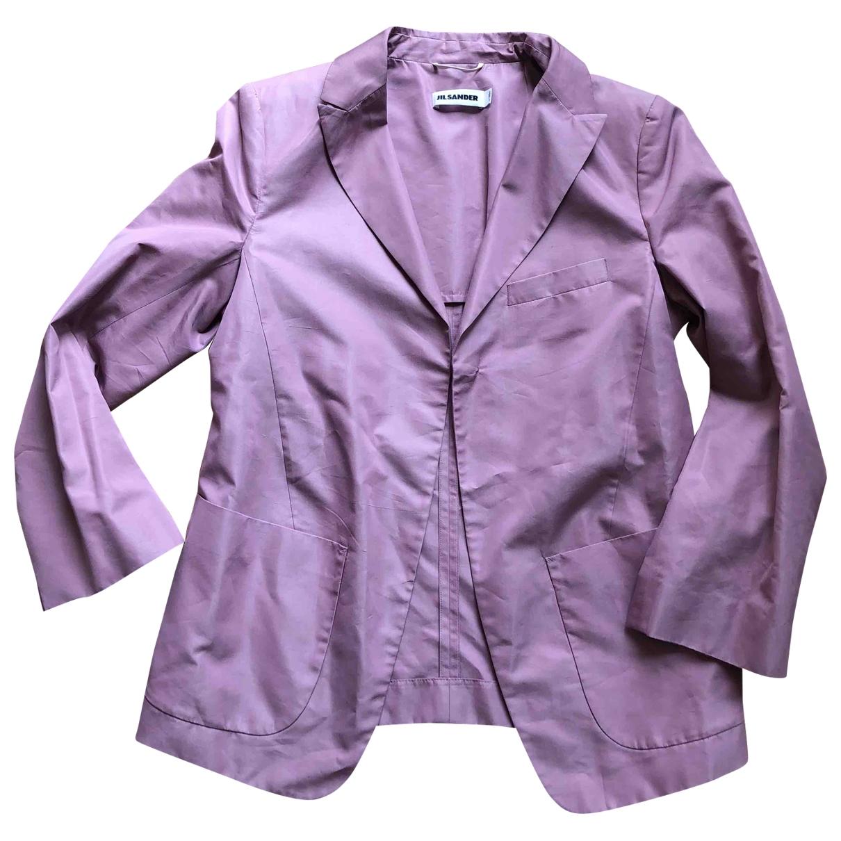 Jil Sander - Veste   pour femme en soie - rose