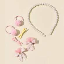 7 Stuecke Kleinkind Maedchen Haar Accessory mit Schleife Dekor