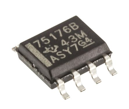 Texas Instruments SN75176BD, Line Transceiver, RS-485, 5 V, 8-Pin SOIC (10)