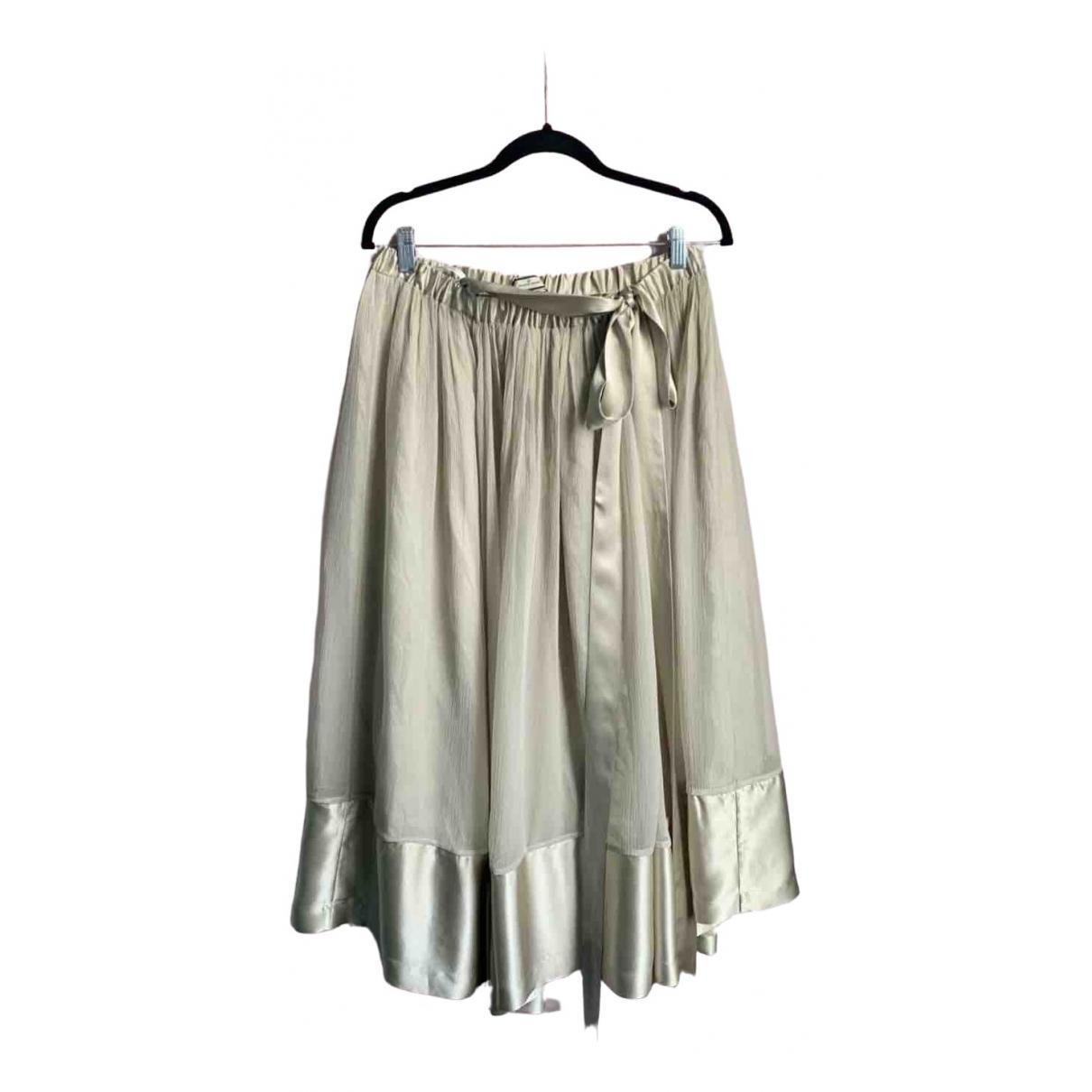 By Malene Birger \N Green Silk skirt for Women 40 FR